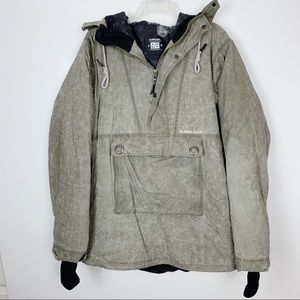 Armada Waxed Cotton Ski Pullover Jacket Coat Large